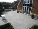 granite paving edged with a slate cobble