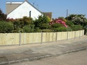 3ft close board fencing panels with concrete gravel boards and posts