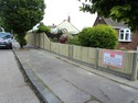 6ft and 3ft close board fencing panels with concrete gravel boards and posts
