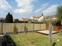 6ft close board fencing panels with concrete gravel boards and posts