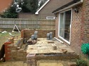 works in progress in construction of new Orangerie Extension