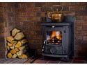 AGA Wenlock stove witch has been installed with the black schiedel chimney system.. witch is in the other photos shown