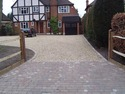 gravel and block paving