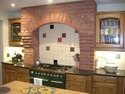 Remodel Decorative Brickwork Over Cooker Alcove Kitchen