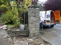 Dry stone wall & Stone piller