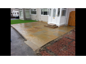 Harvest natural paving with matching steps...