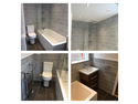 Another beautiful bathroom installed complete with 4 LED spotlights, We removed the old Artex ceiling and plastered the walls & ceiling to give it a modern look. We complete most bathrooms within 5 days.