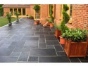 blue/black slate paving