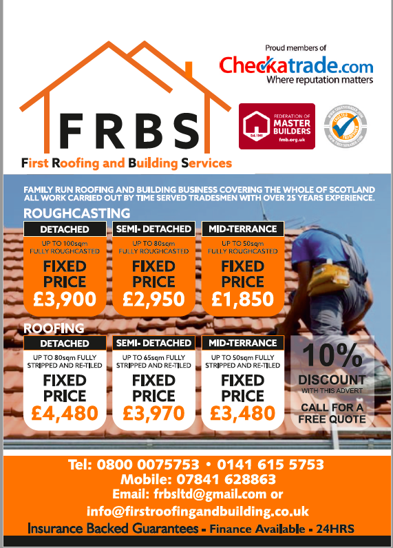 Frbs Ltd Pitched Roofer Flat Roofer Fascias Amp Soffits