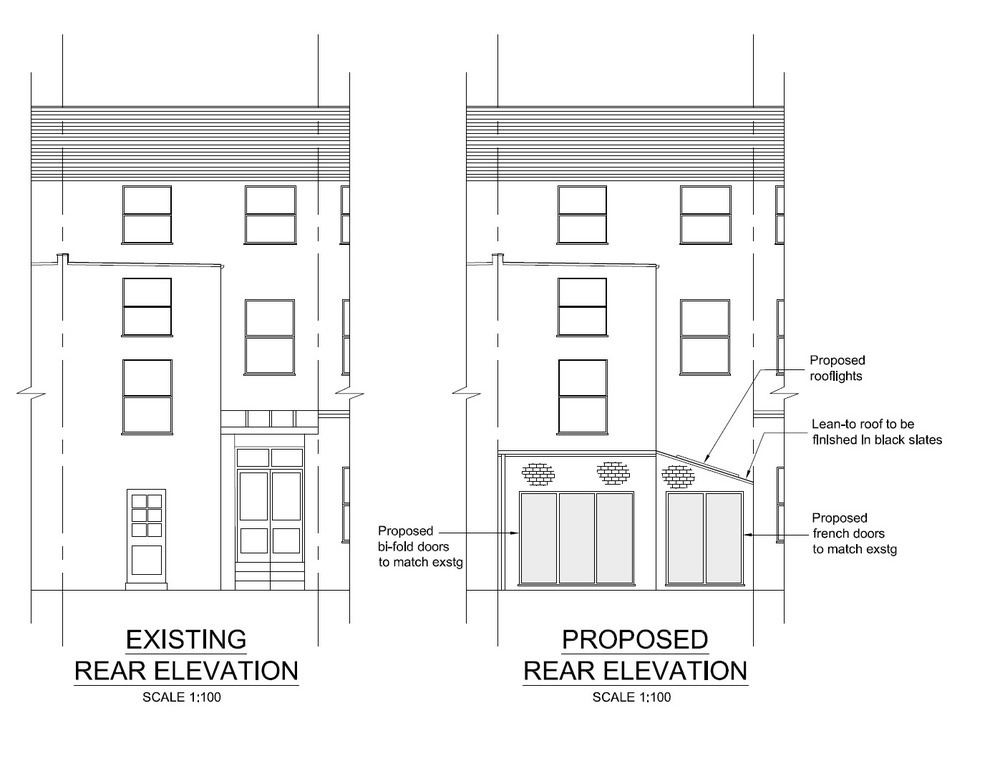 single storey side infill and part