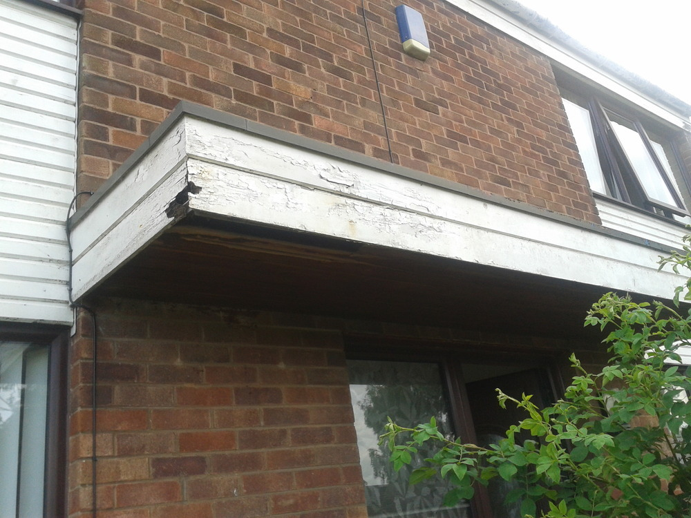 External Porch Replace Wood With Plastic Fascia Board