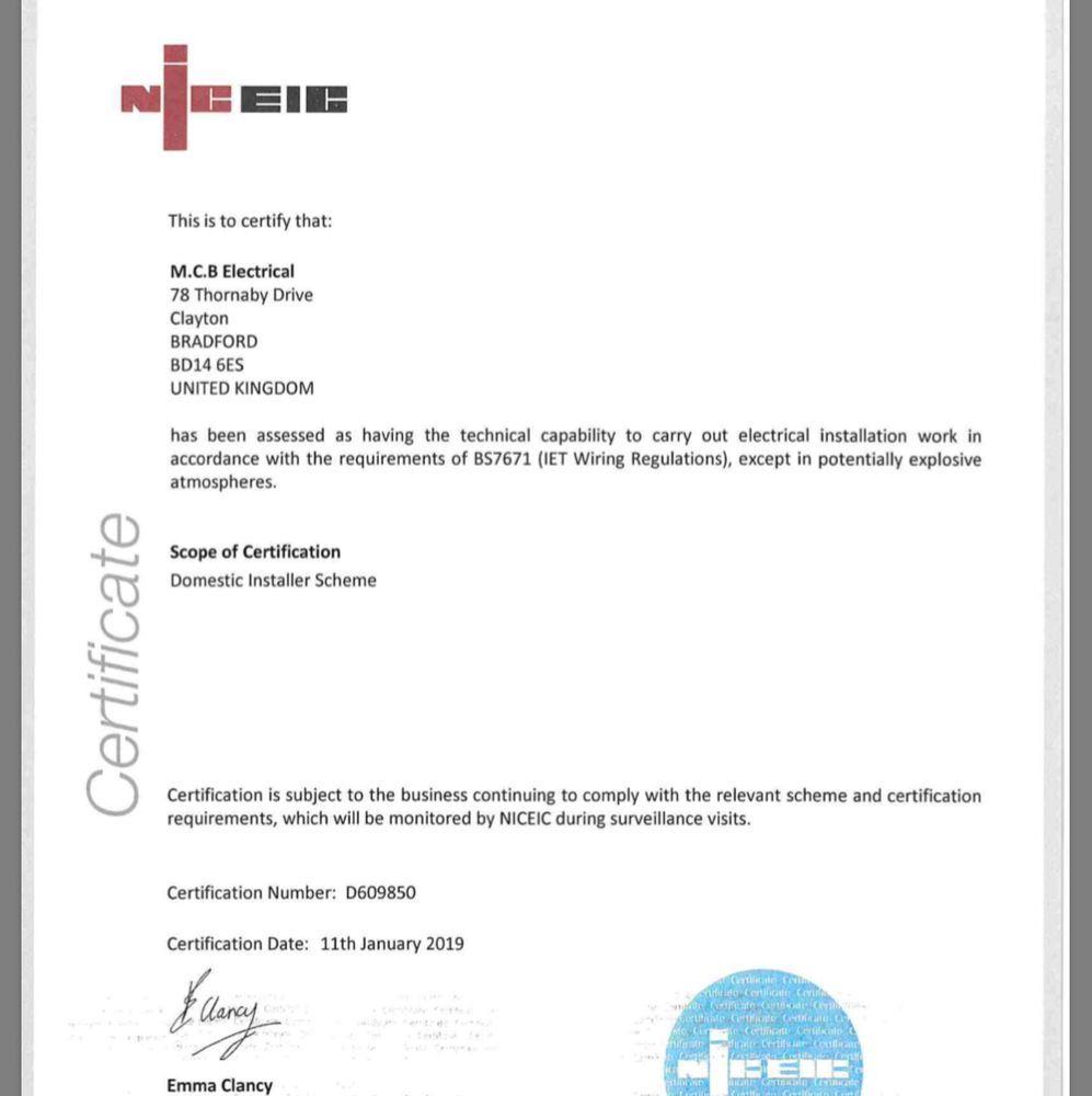 M C B Electrical  100  Feedback  Electrician  Security