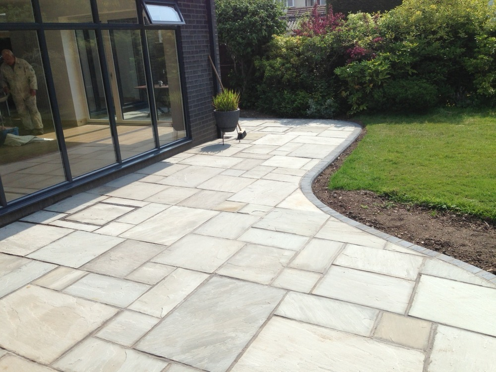 Simple Grey Stone Patio Stanmore Groundworks Limited Feedback With Indian  Stone Grey.