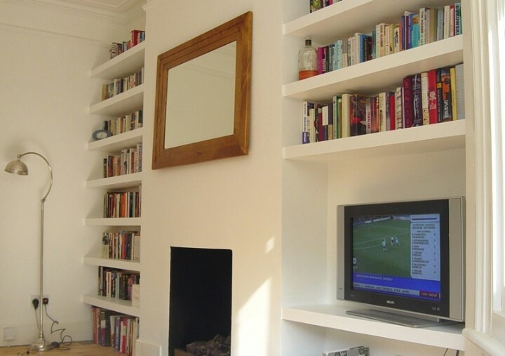Alcove Floating Shelves Victorian Flat Carpentry Job
