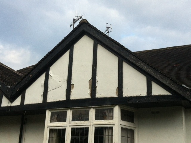 Replacing Mock Tudor Gable End On 1930s House