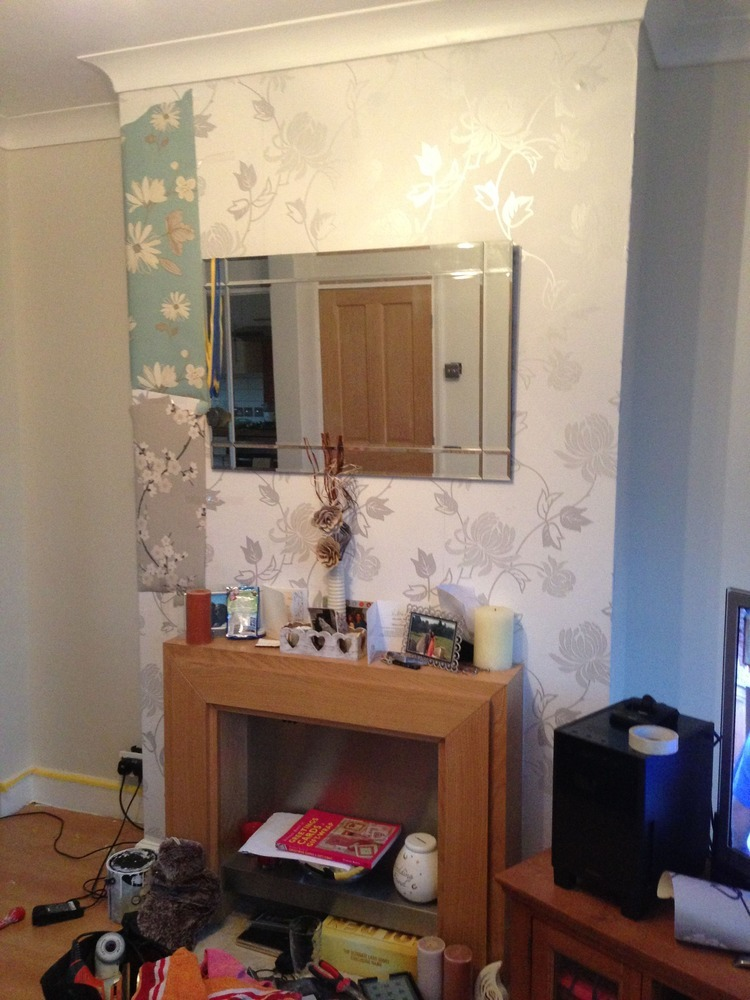 Chimney Breast Wallpaper Painting Decorating Job In