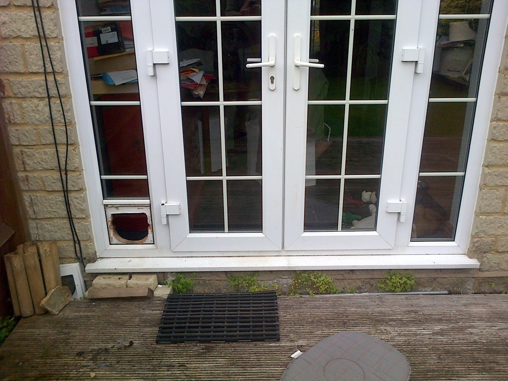 Repairing Cat Flap In French Doors Handyman Job In