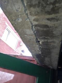 Replace Garage Door Concrete Lintel And Wooden Doors