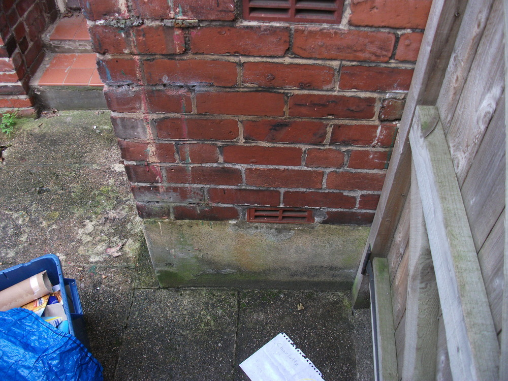 Concrete Render Removal And Air Brick Placement