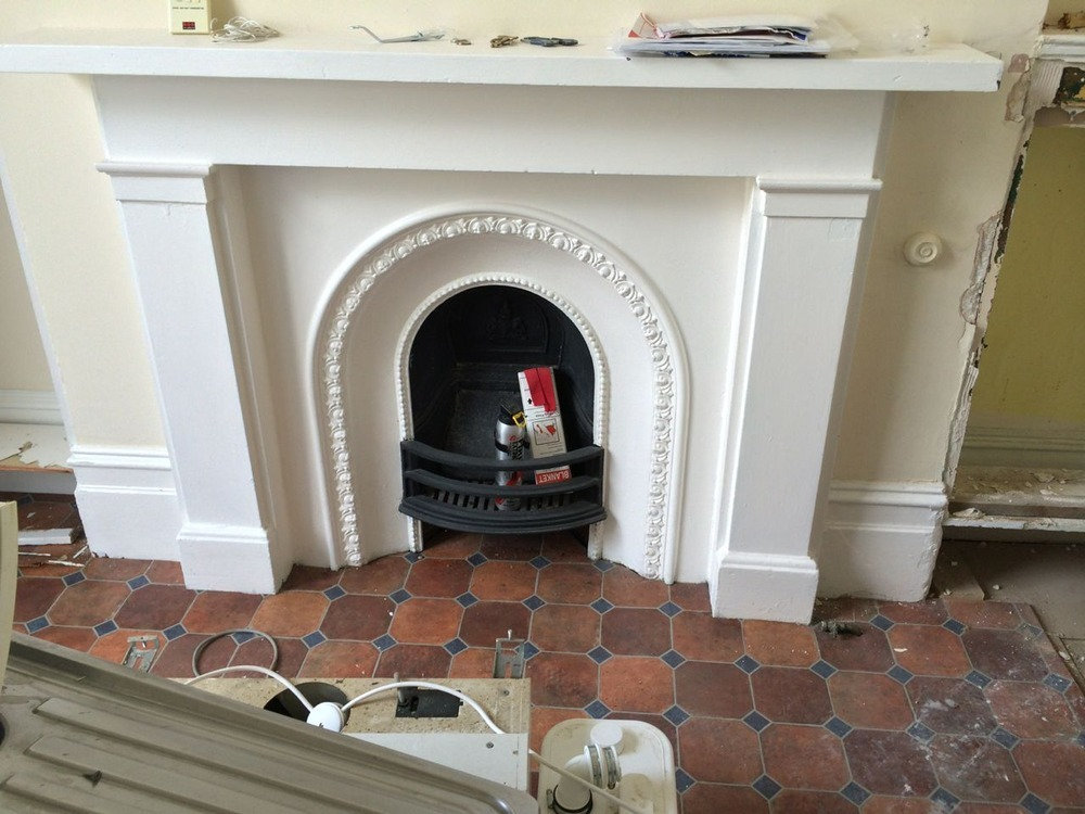 remove fireplace   fit new insert and fit 3 hearths Curved Fireplace Insert Curved Fireplace Insert