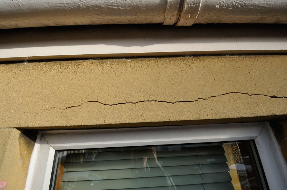 repair    replacement to lintel above window