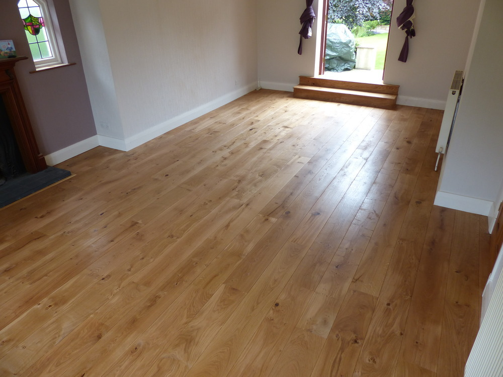 Oak Hardwood flooring installed by I.B.I Ltd in Scarcroft Leeds