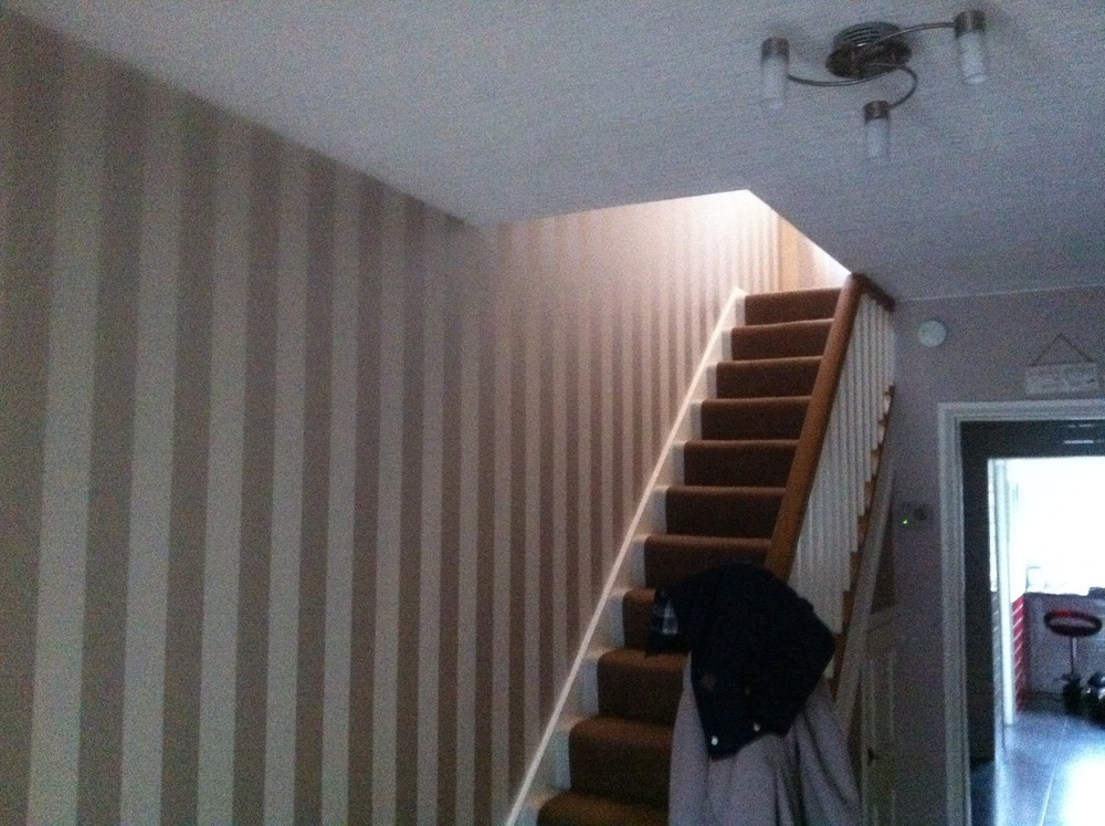 Decorating ideas for stairway walls