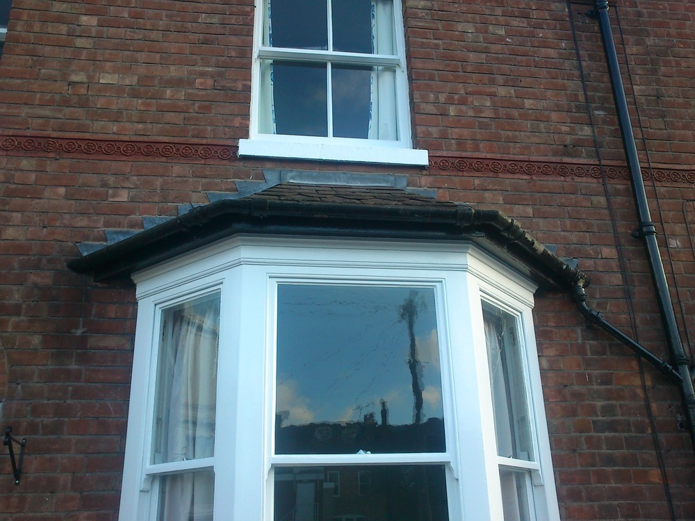 Asbestos Gutter Removal From Bay Window Demolition
