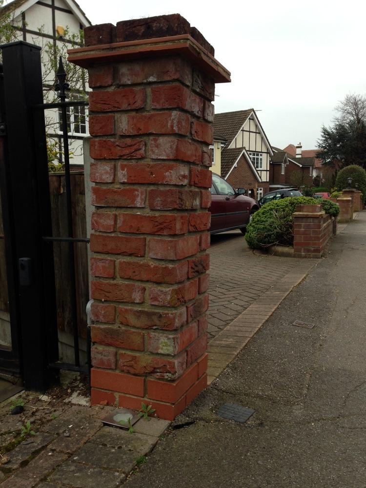 Rebuild Brick Pillar Repair External Garden Wall