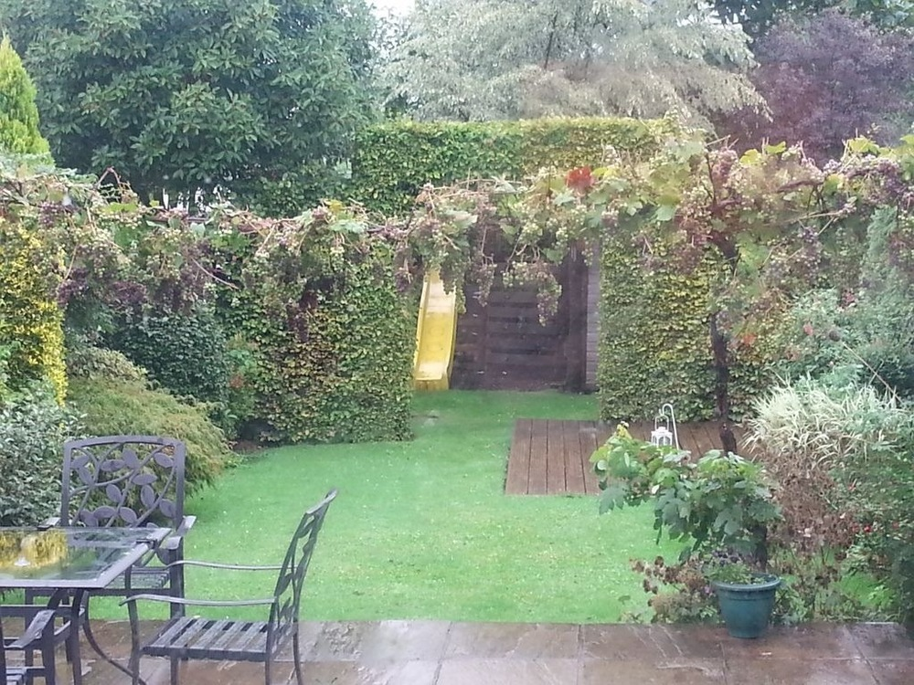 Posts And Balustrade On Patio To Support Vine - Landscape Gardening Job In Orpington Kent ...