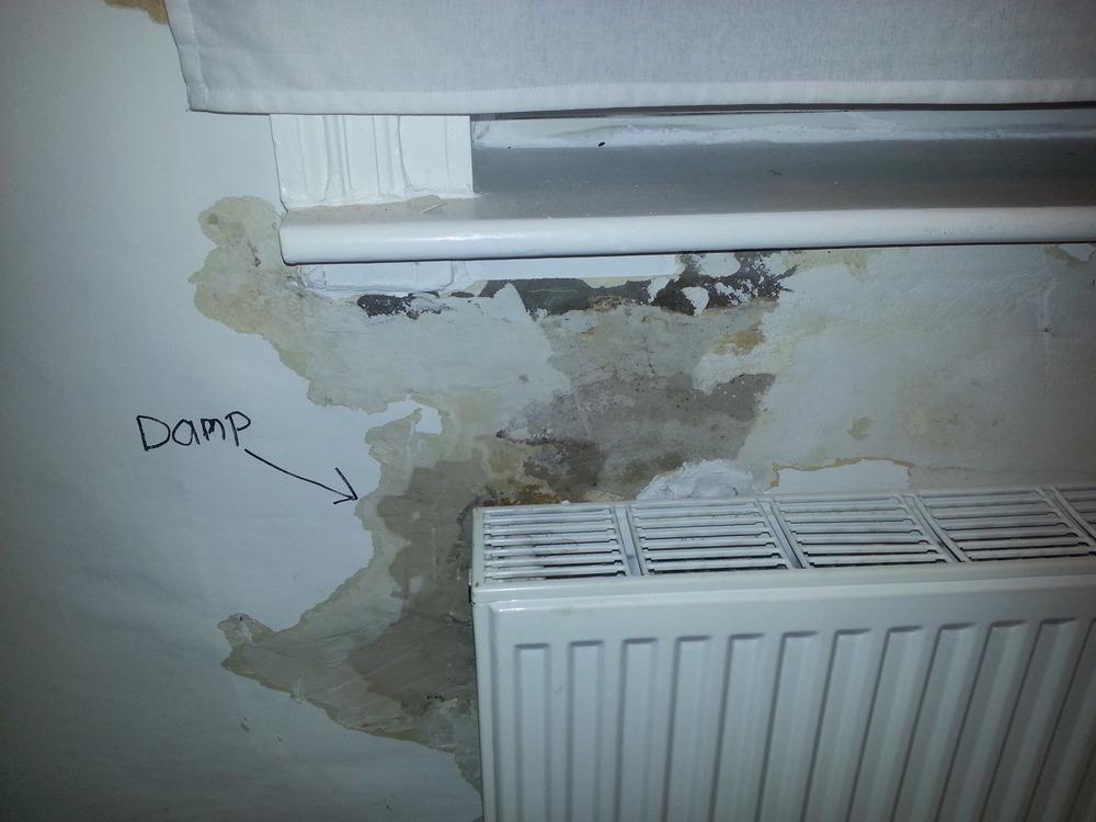 Damp Under 1st Floor Bedroom Window Sill Restoration