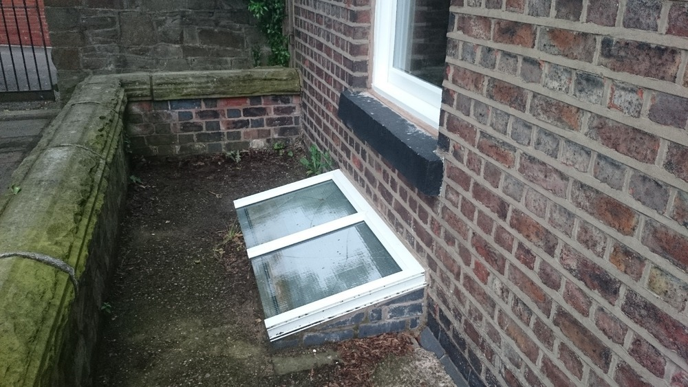 Replacement Cellar Skylight Window In Victorian Semi