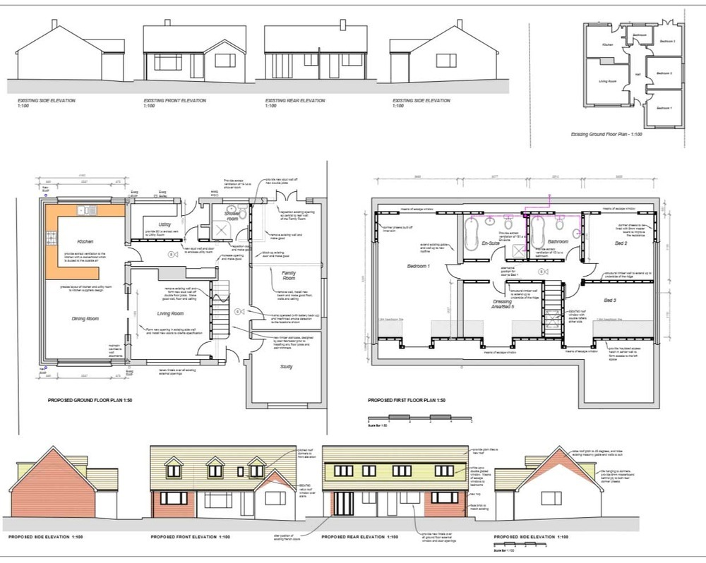 Awesome loft extension floor plans selection dream home for Extension floor plans
