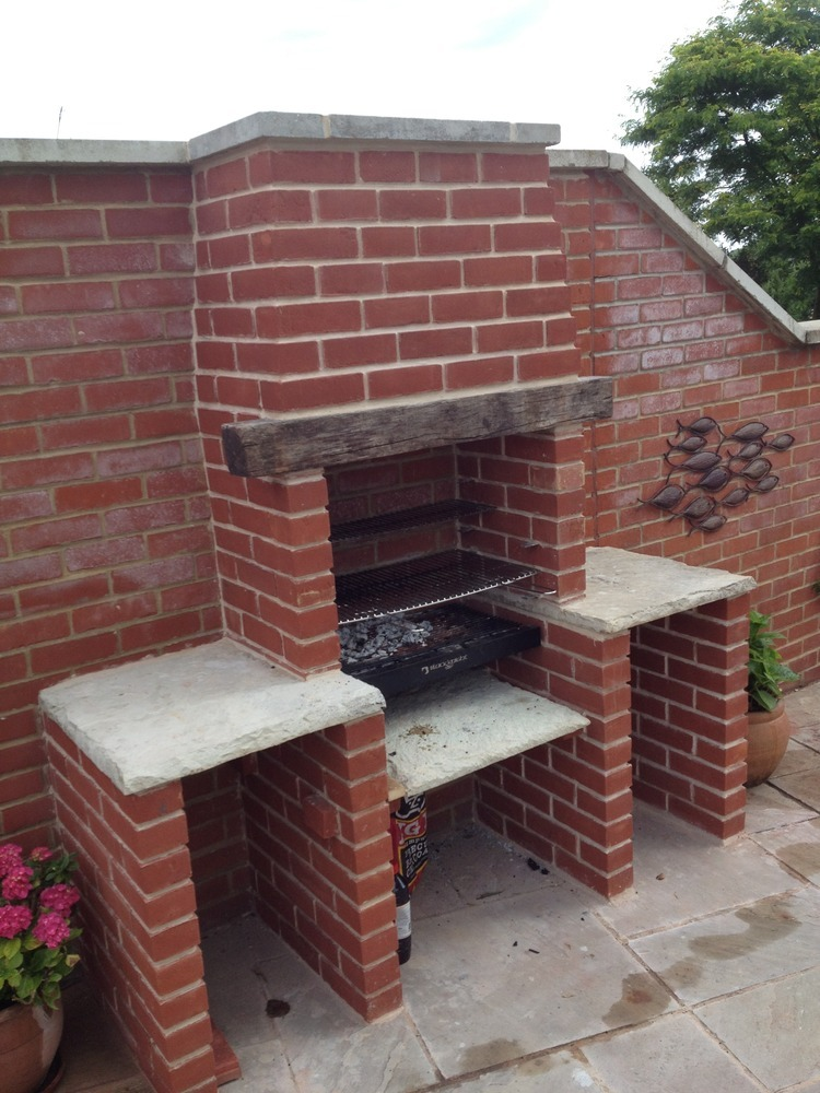 Brick built bbq chimneys amp fireplaces job in bury lancashire