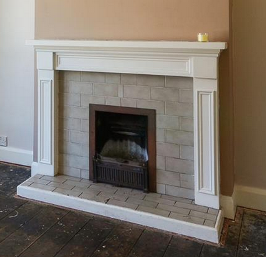 Retile fireplace - Tiling job in Crofton Park, South London ...