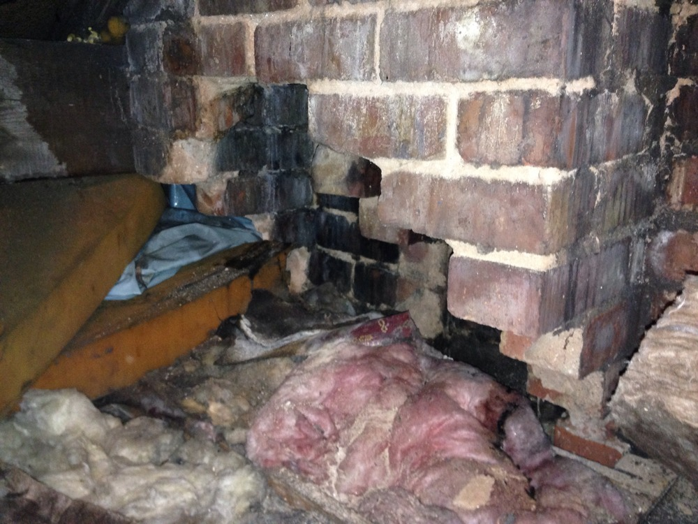 Damp Patches On Bedroom Ceiling Loft Roof Chimney Leak