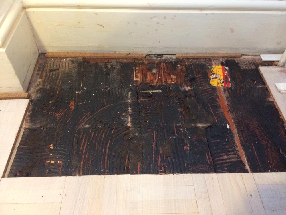 Remove Bitumen Tar From Wooden Floorboards Hard Flooring