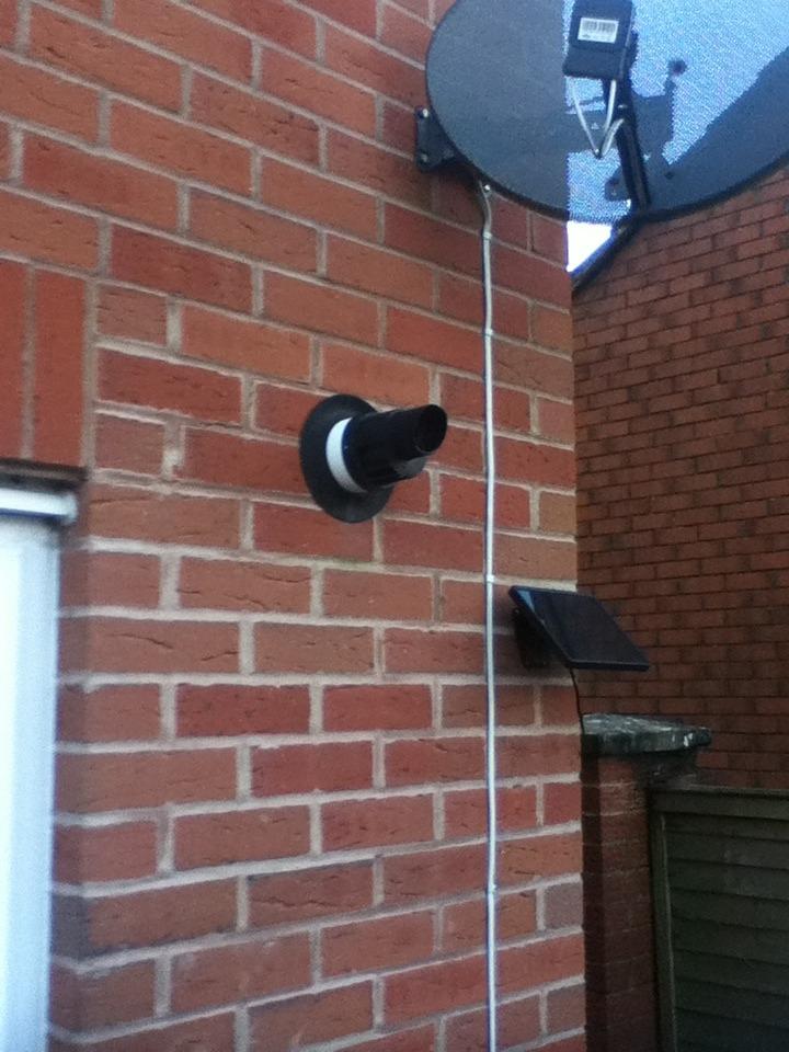Boiler flue and plumbing adjustments