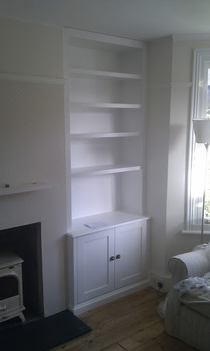 Alcove Shelving Either Side Of Chimney Carpentry Job