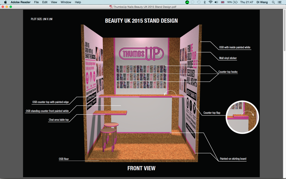 Beauty Uk Show Custom Build 2x2 Exhibition Stand