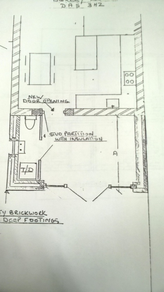 Construction Of Conservatory With Addtional Toilet Room