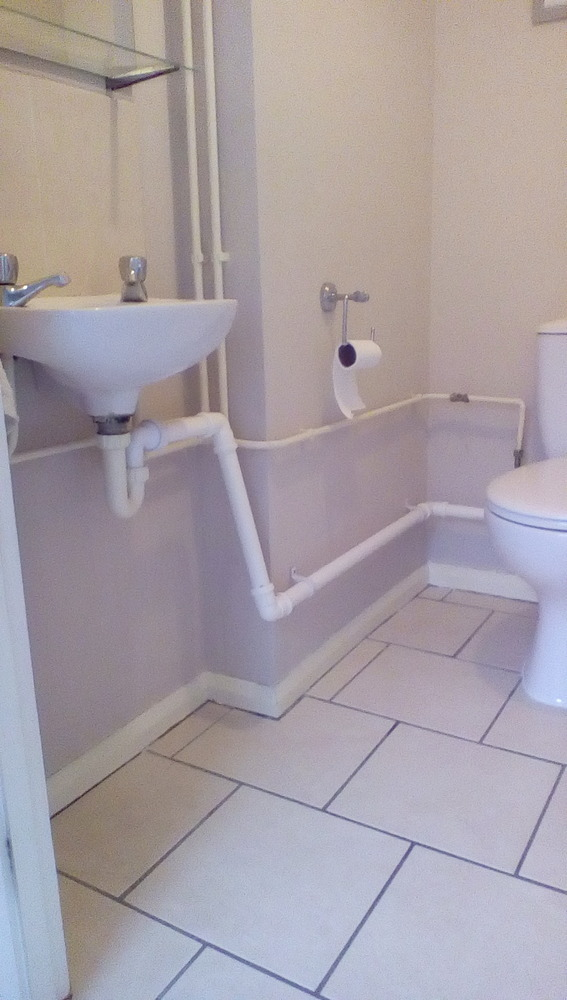 Boxing Off Visible Piping In Downstairs Toilet Joinery