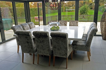 Bespoke Square White Quartz Dining Table 1 8mx1 8m Stonemasonry