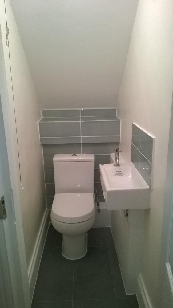 Shower under stairs joy studio design gallery best design for Small bathroom under stairs