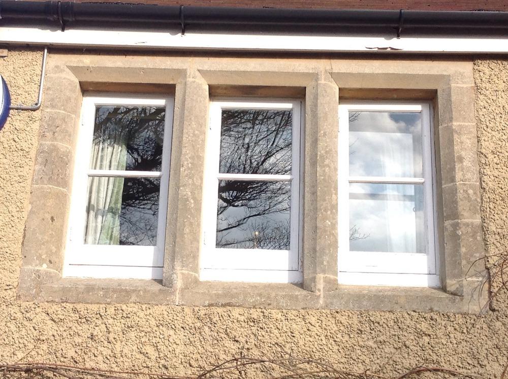 Install Stone Mullion Window Surround To Match Existing