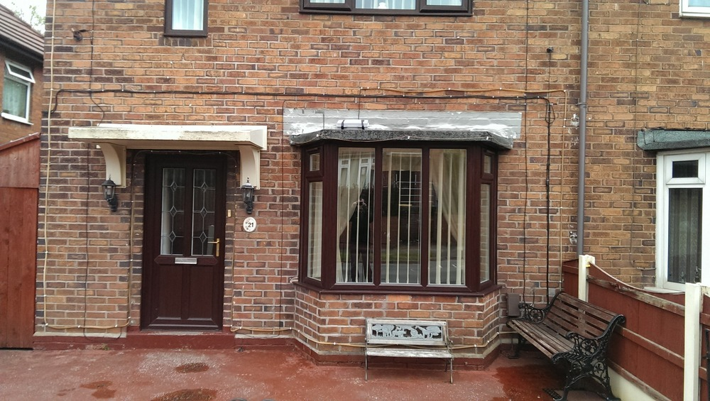 Canopy Over Bay Window And Door Roofing Pitched Job In Stoke On