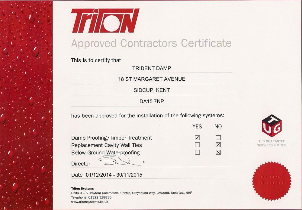 Trident Damp: 99% Feedback, Damp Proofing Specialist ...