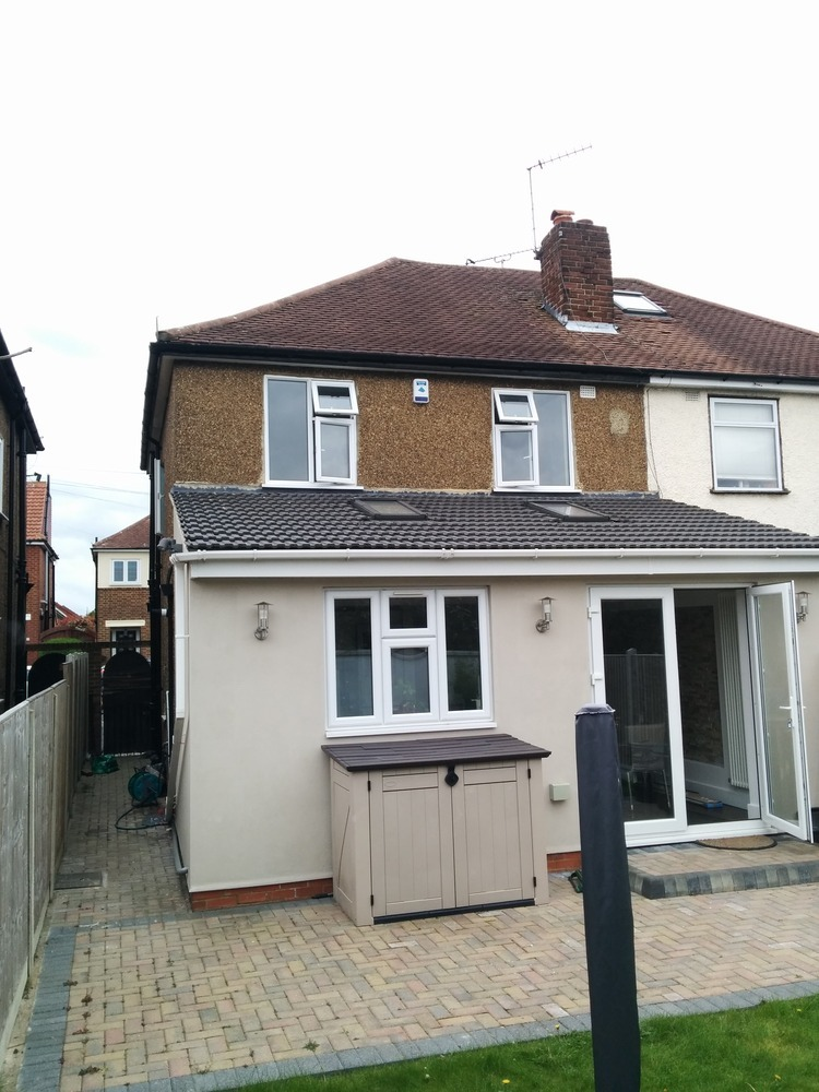 Rear Extension Ideas >> Removal of Pebble Dashing & K - Render (Semi-detached) - Plastering job in Ilford, Essex - MyBuilder