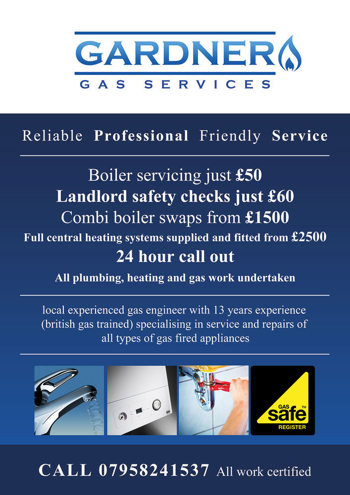 Gardner gas services 98 feedback gas engineer heating for Gardner plumbing