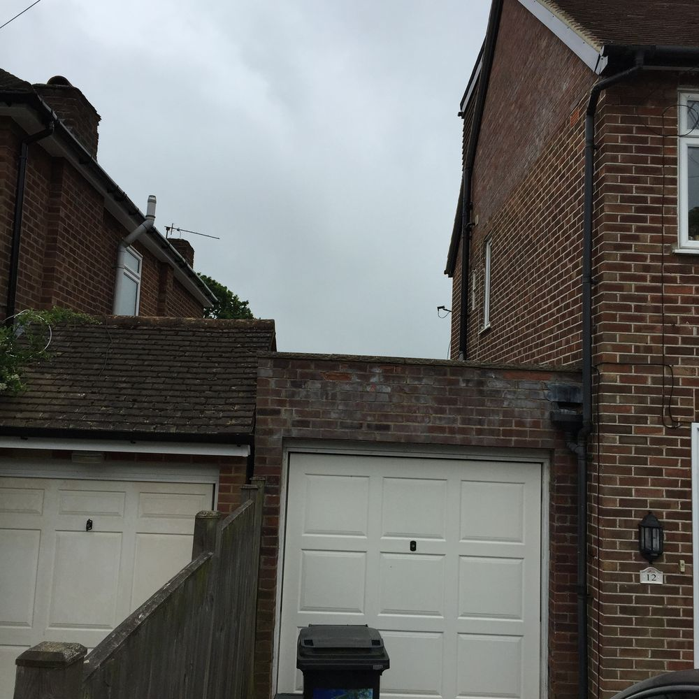 To Install A Dummy Pitch Roof To The Front Of Garage